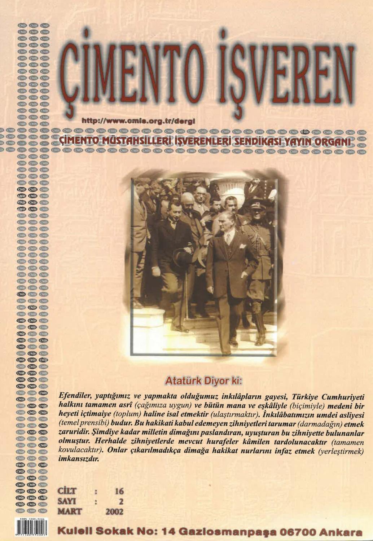 Cimento Isveren Dergisi Mart 2002 By Ceis Takvim Issuu