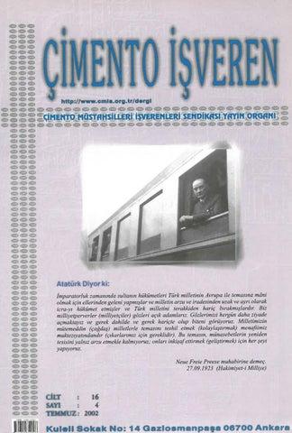 Cimento Isveren Dergisi Temmuz 2002 By Ceis Takvim Issuu