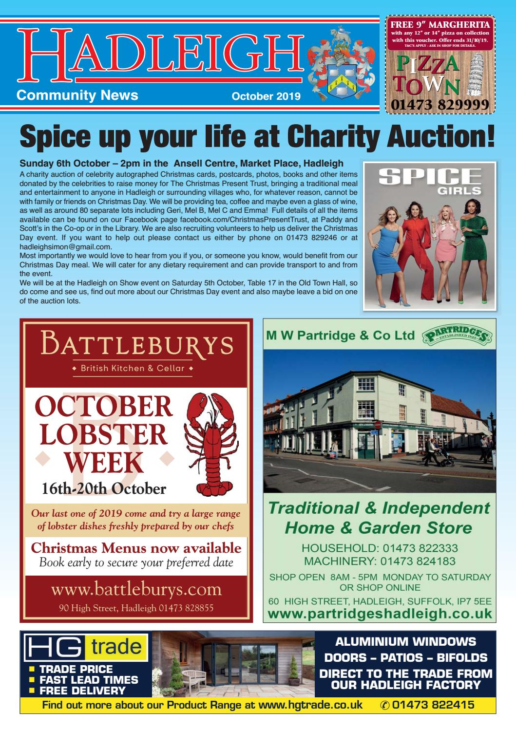 Hadleigh munity News October 2019 by Keith Avis Printers