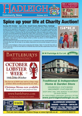 Hadleigh Community News October 2019 By Keith Avis Printers