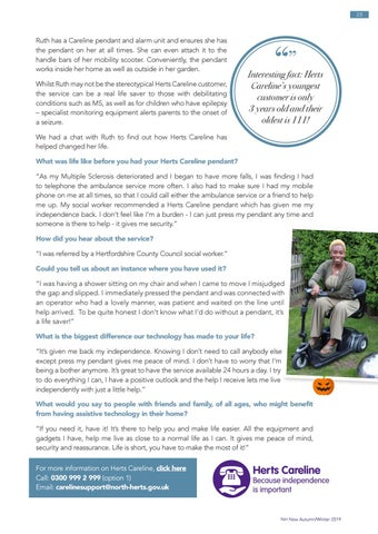 Page 23 of Herts Careline helps local resident regain independence in her home