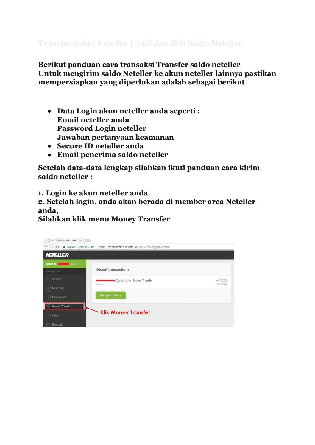 Transfer Saldo Neteller Jual Dan Beli Saldo Neteller By Www Emoney Cash Issuu