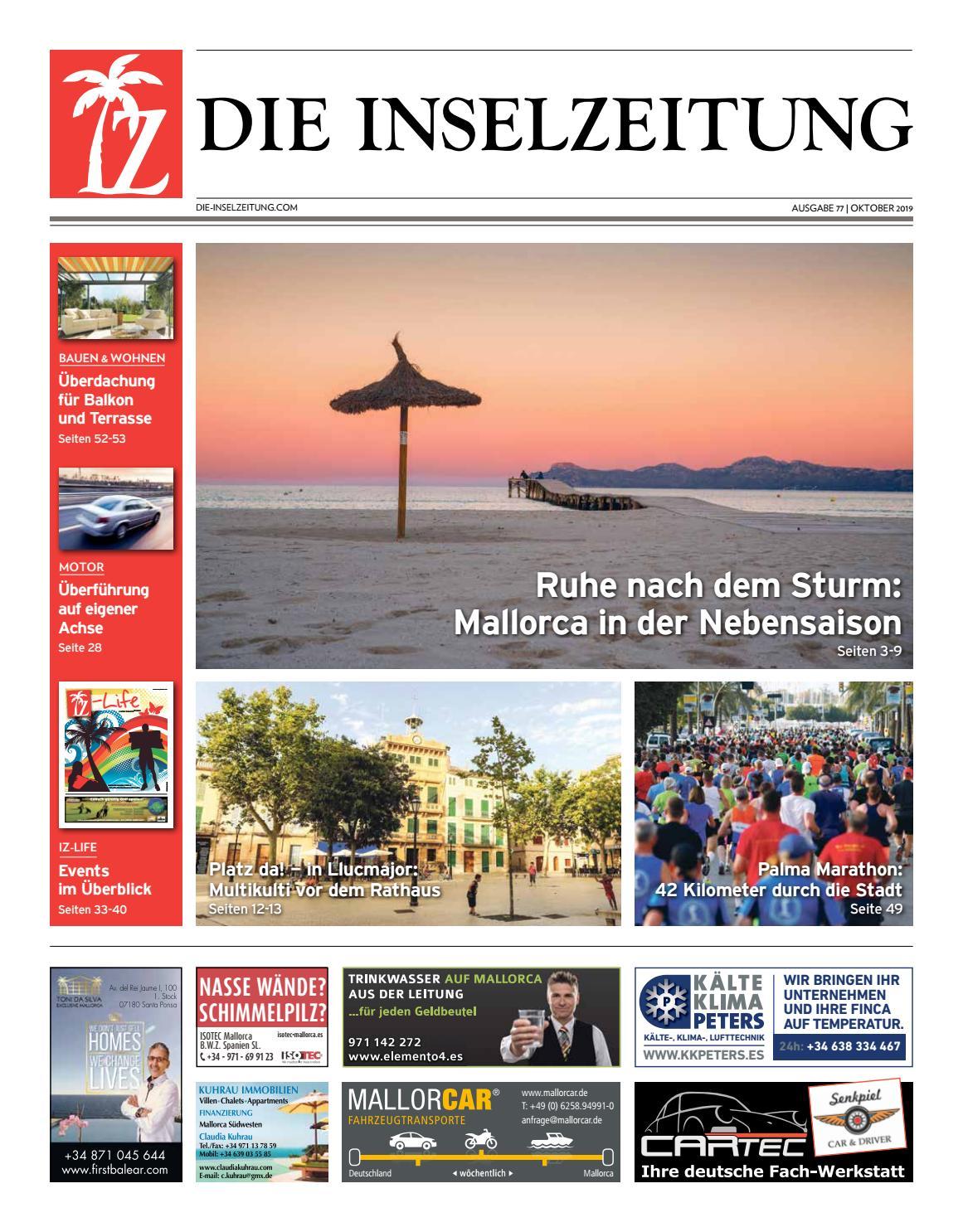 Die Inselzeitung Mallorca Oktober 2019 By Die Inselzeitung