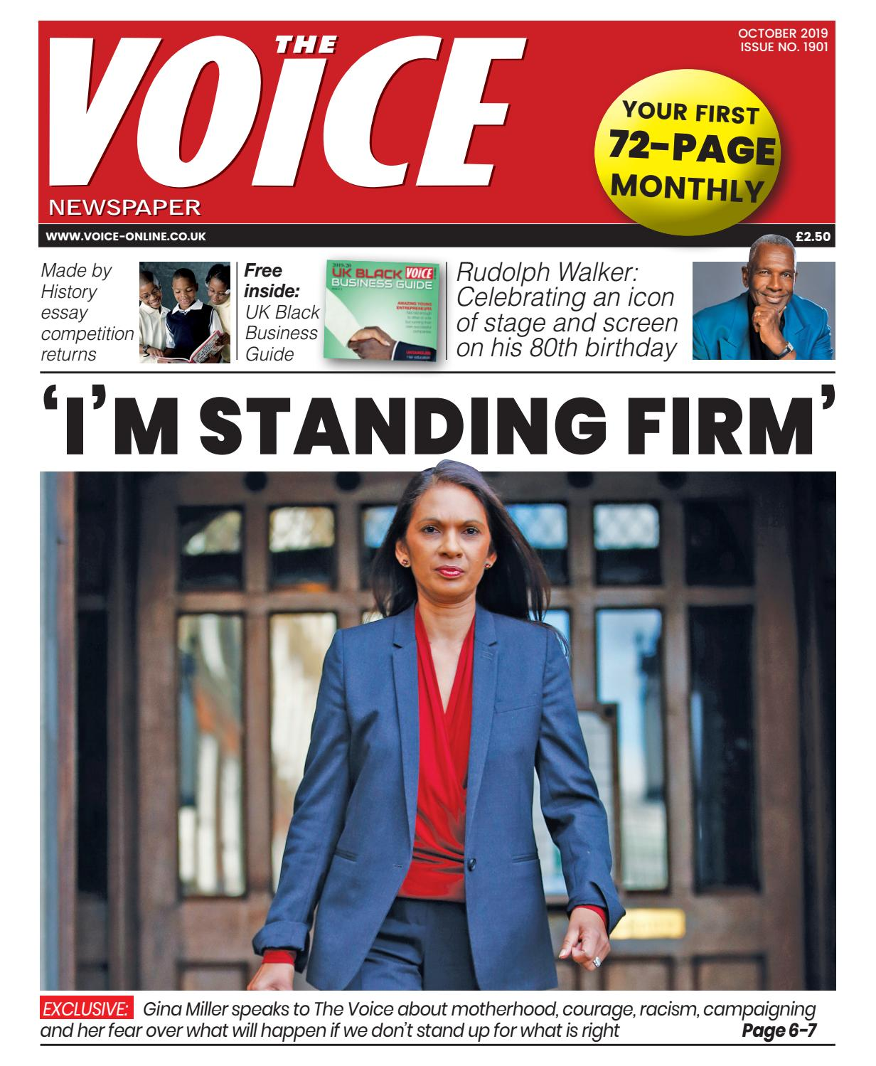 The Voice Newspaper October Issue by thevoicemediagroup - issuu