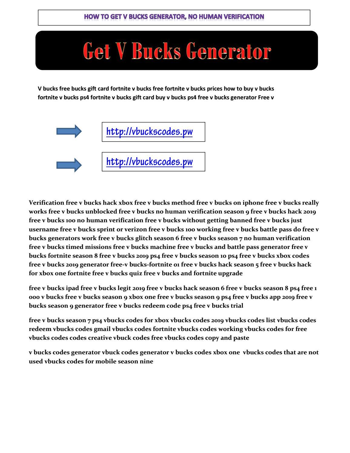 Pdfgenerator Fortnite V Bucks Code Try Our New Method