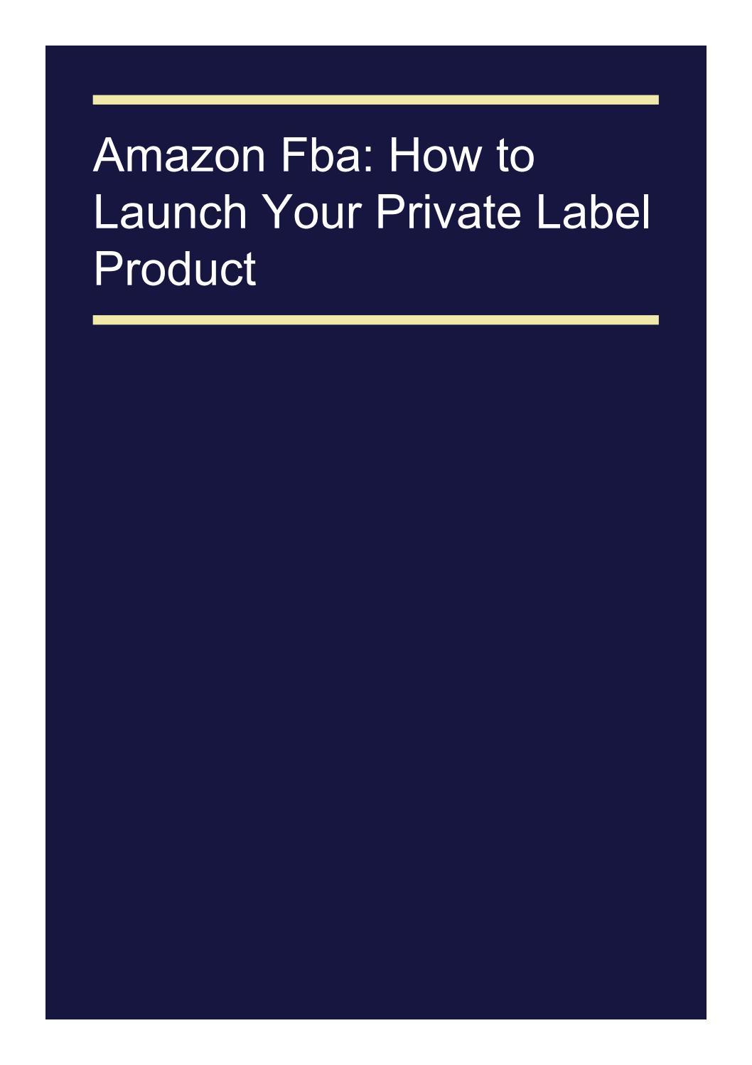 private label amazon fba