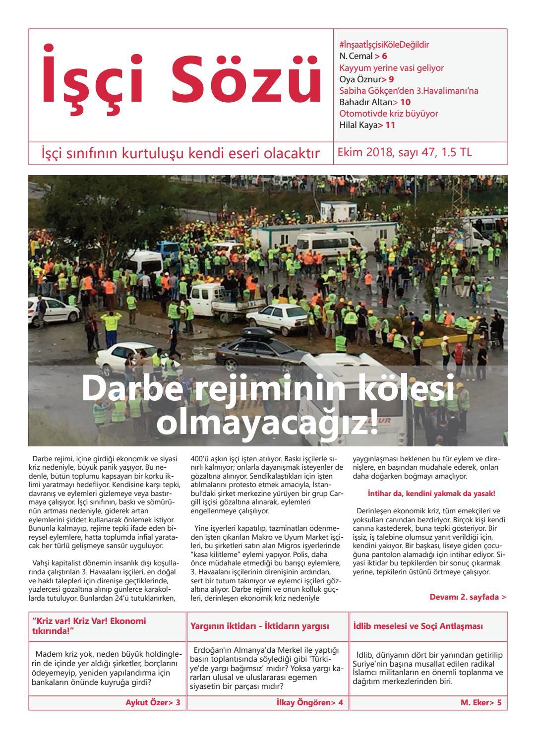 İşçi Sözü Ekim 2018 by İşçi Sözü - issuu
