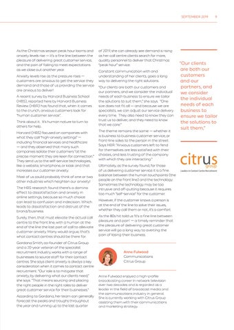 Page 9 of Contact centre rush hour: How's your customer and service anxiety?