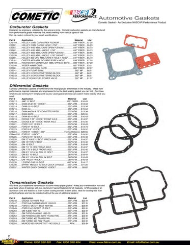 Top End Gasket Kit PRO1019T Cometic