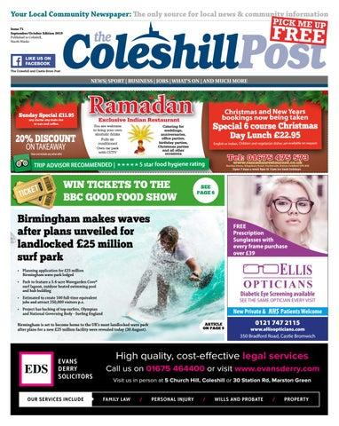 Coleshill Post Septemeroctober 2019 By Hyperbole Ltd Issuu