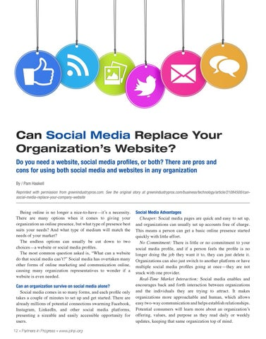 Page 12 of Can Social Media Replace Your Organization's Website?