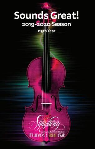 Walla Walla University Graduation 2020.Walla Walla Symphony 2019 2020 Season Program Book Part 1