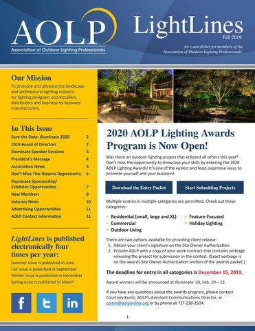 Aolp Lightlines 2019 Fall Issue By