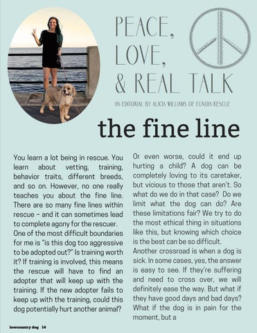 Page 14 of the fine line- Peace, Love & Real Talk