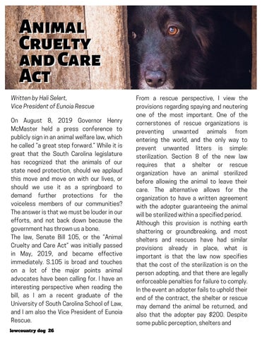 Page 26 of Animal Cruelty & Care Act