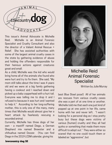 Page 32 of Lowcountry Dog Animal Advocate- Michelle Reid