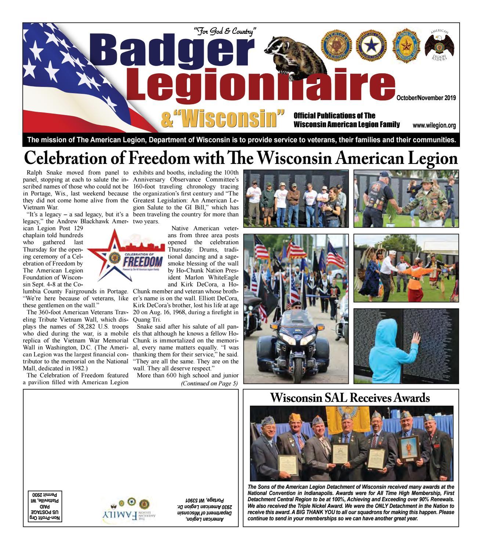 Badger Legionnaire Wisconsin October November 2019 By