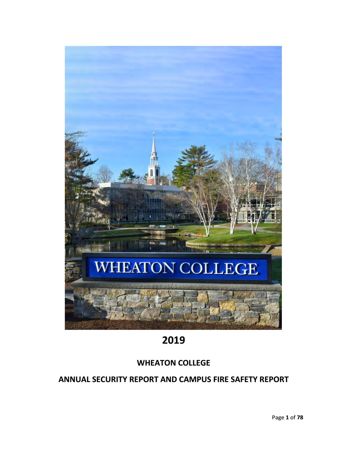 Wheaton Clery Report by Wheaton College - issuu on