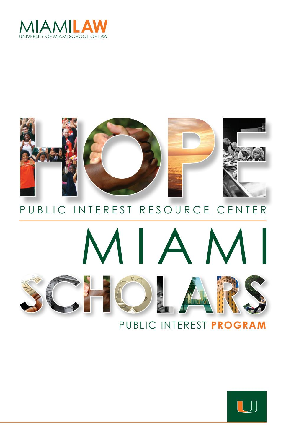 Hope Miami Scholars Class Of 2020 2021 2022 By University Of Miami School Of Law Issuu