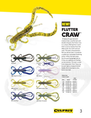 Page 3 of New Flutter Craw Lure - Colors