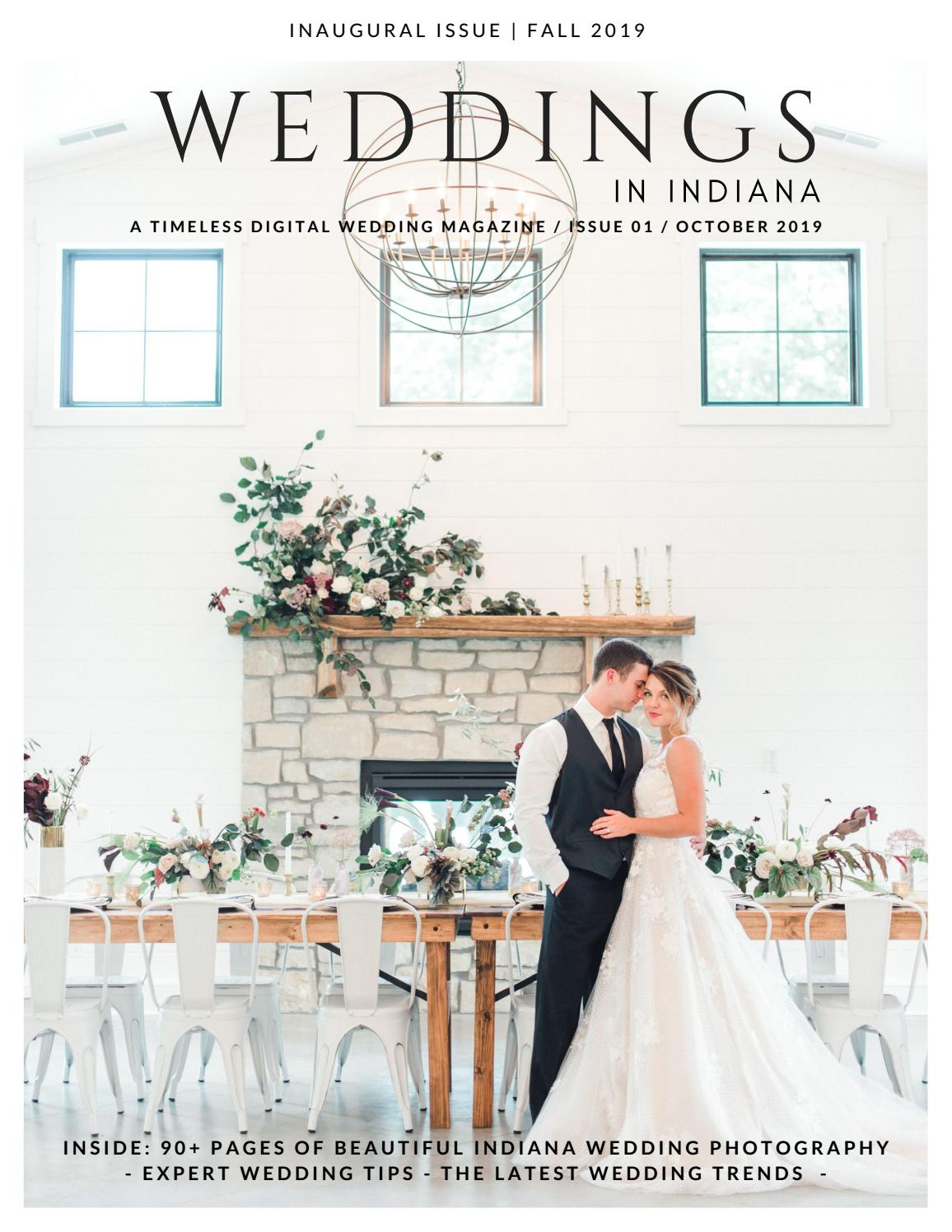 Weddings In Indiana Magazine Fall Winter 2019 Issue By Weddings
