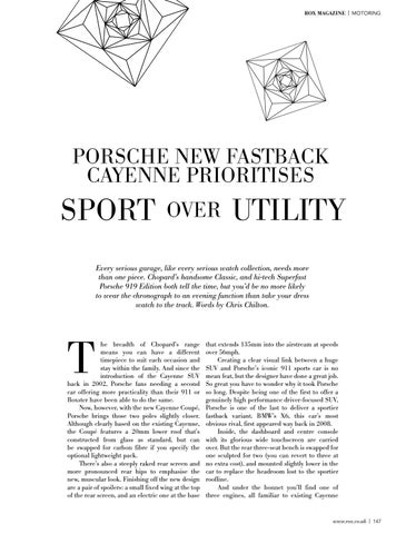 Page 149 of Porsche new Fastback Cayenne prioritises sport over utility