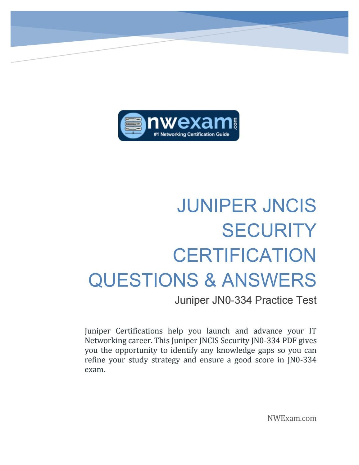 juniper jncis certification pdf setc18 sec study