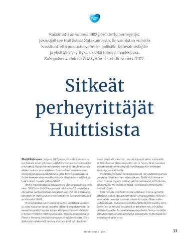 Page 33 of Sitkeät yrittäjät Huittisista