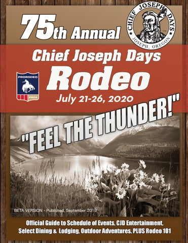 Rodeo Events 2020.2020 Chief Joseph Days Event Guide By Angelika Designs