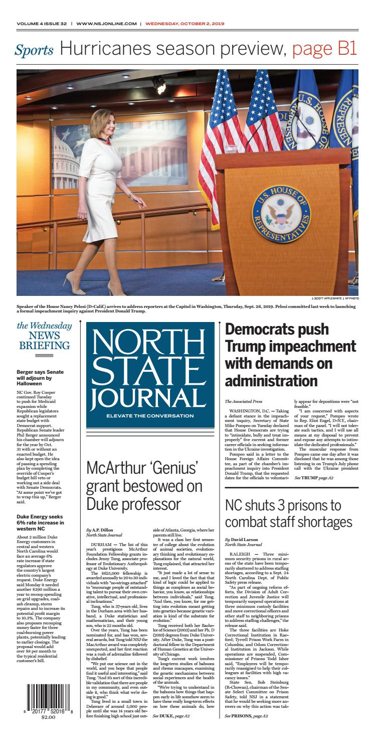 North State Journal Vol. 4, Issue 32 by North State Journal