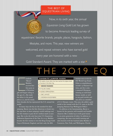 Page 42 of The 2019 EQLiving Gold List