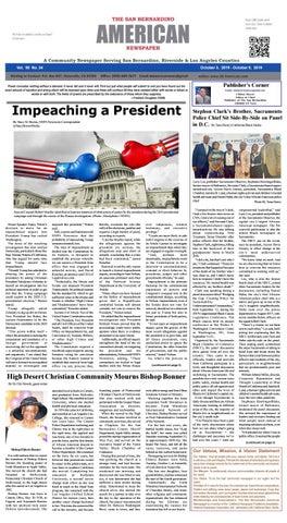 SB American News Week Ending 10/9 by San Bernardino American