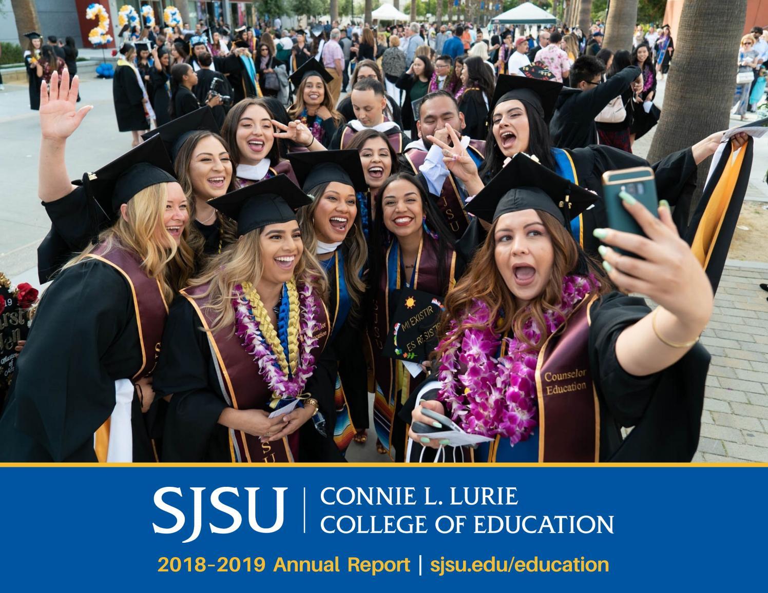 Sjsu Summer 2020.Sjsu Lurie College Of Education 2018 2019 Annual Report By