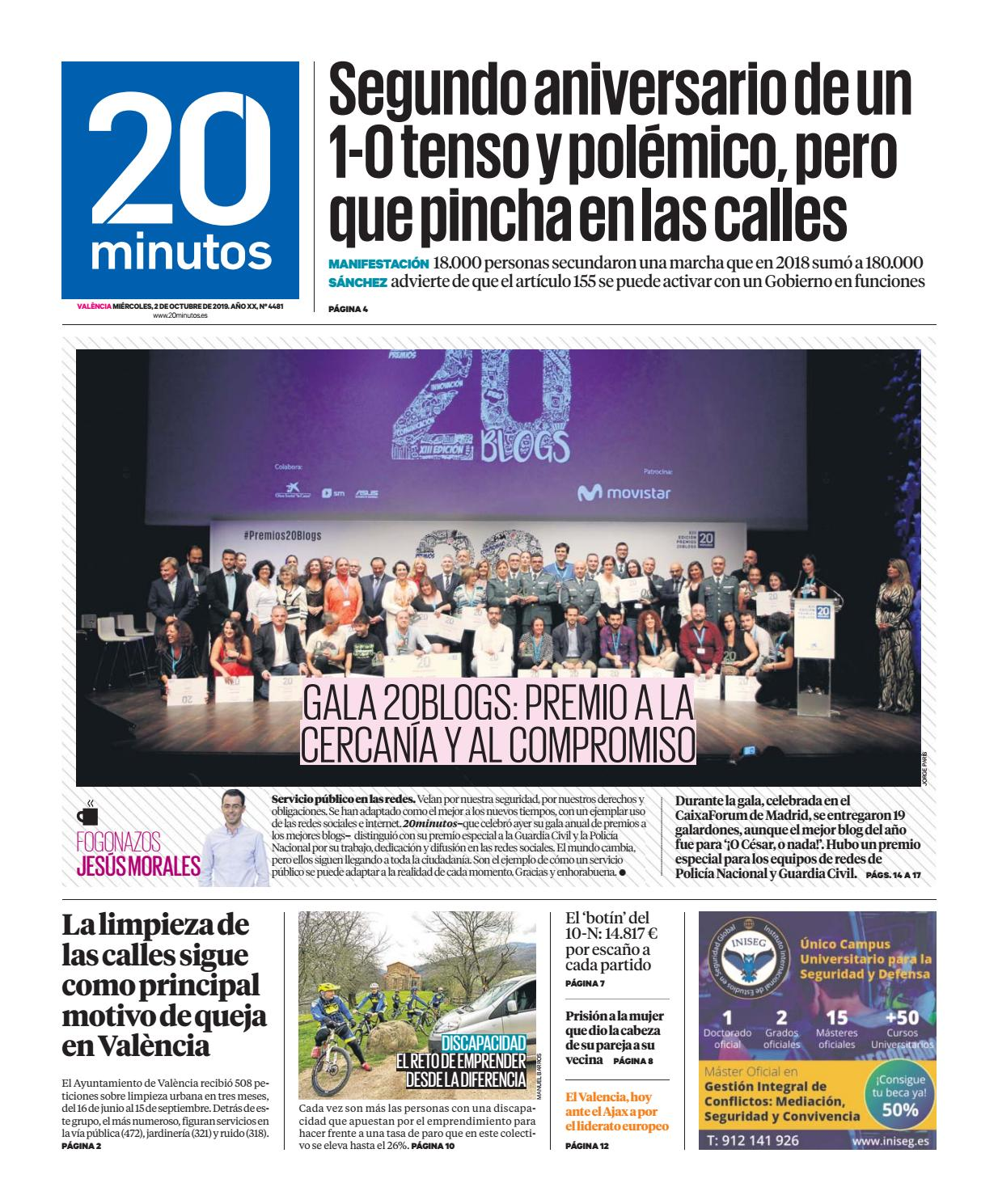 20minutos Valencia 2 de octubre de 2019 by 20minutos issuu