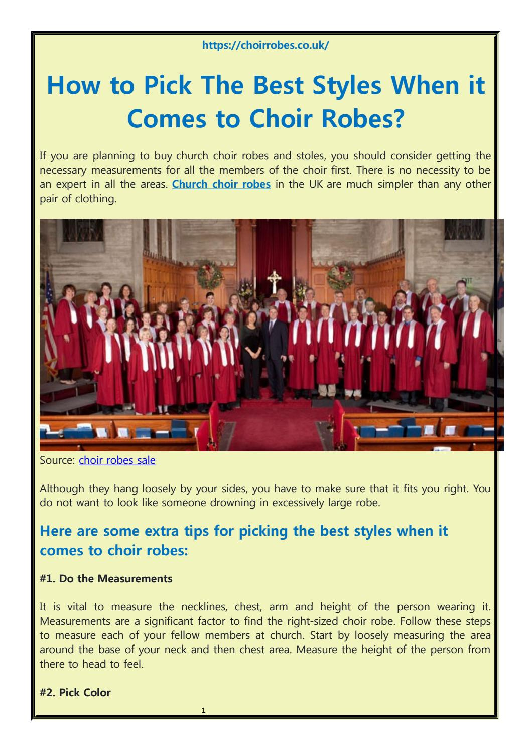 How To Pick The Best Styles When It Comes To Choir Robes By Choirrobesuk Issuu
