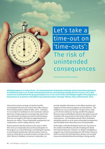 Page 14 of Let's take a time-out on 'time-outs': The risk of unintended consequences