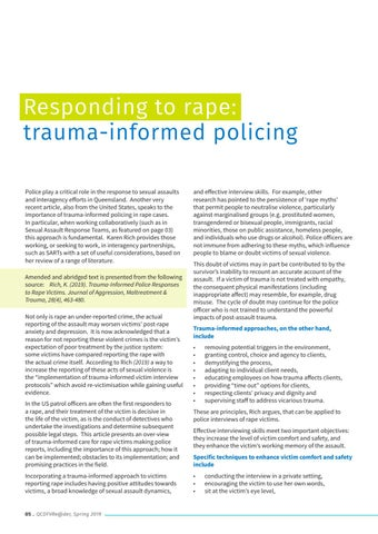 Page 6 of Responding to rape: Trauma-informed policing