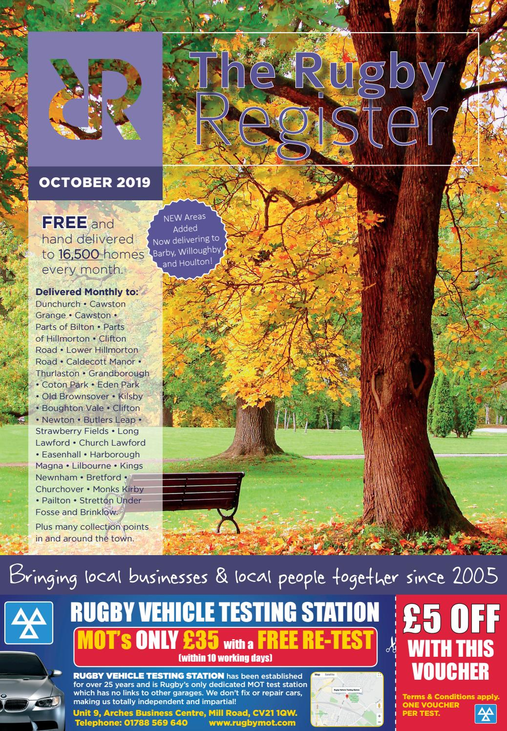 The Rugby Register October 2019 Edition By Rugby Register Issuu