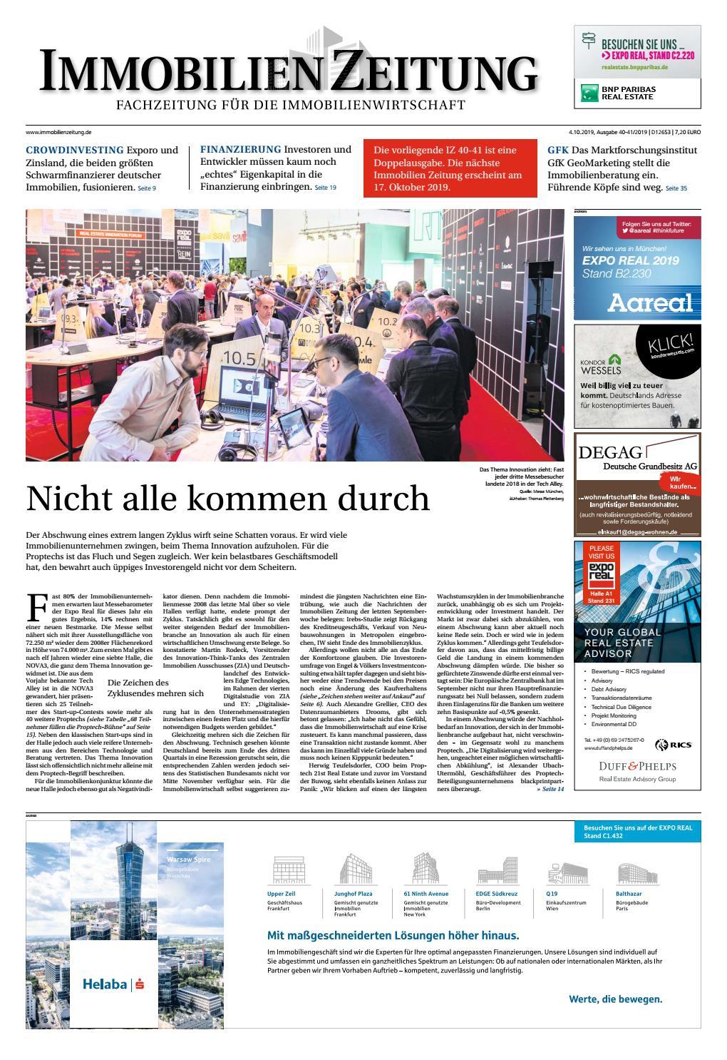 IZ Doppelausgabe 20/20 by Immobilien Zeitung Verlagsgesellschaft ...