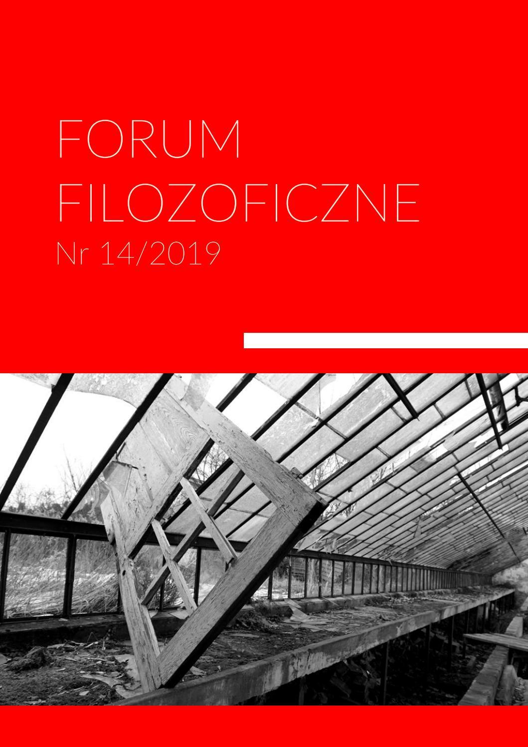Forum Filozoficzne Nr 14 20182019 By Dkfeudaimonia Issuu