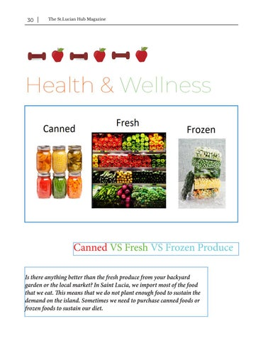Page 30 of Health and Wellness - Frozen vs Fresh Vs Canned