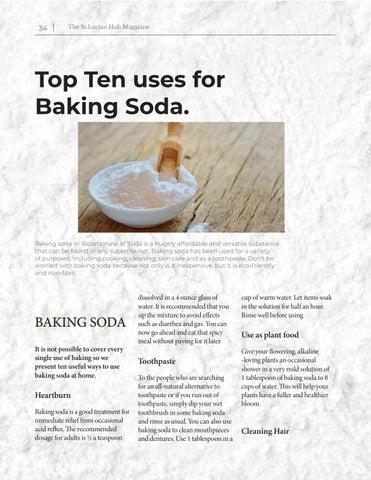 Page 34 of DIY: Baking Soda - Top Ten Uses For Baking Soda