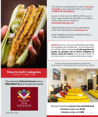 """Page 129 of Revue Photo Contest """"Food in Guatemala"""""""