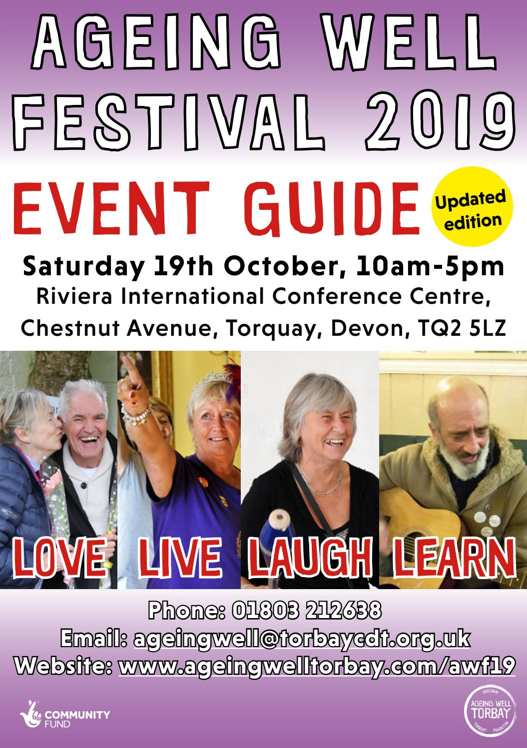 Ageing Well Festival 2019 Event Guide By Torbay Community Development Trust Issuu