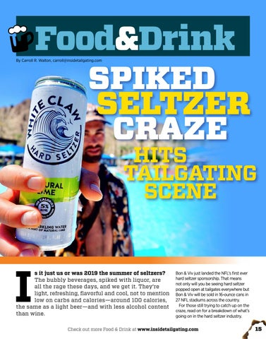 Page 15 of Spiked Seltzer Craze Hits Tailgating Scene