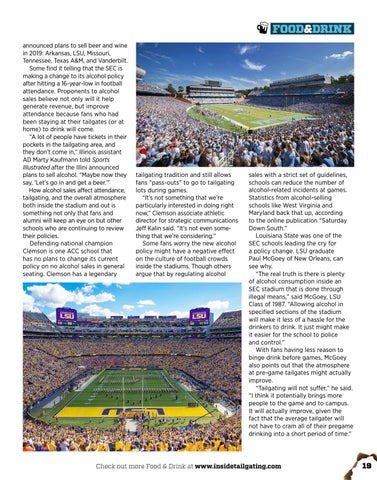 Page 19 of GAME CHANGER: In-Stadium Alcohol Sales Catches on in College