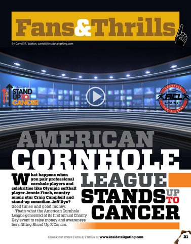 Page 21 of American Cornhole League Stands Up to Cancer