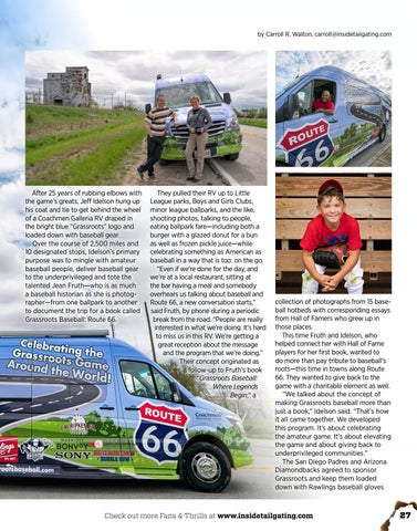 Page 27 of GRASSROOTS BASEBALL Goes to Masses on Route 66 Journey