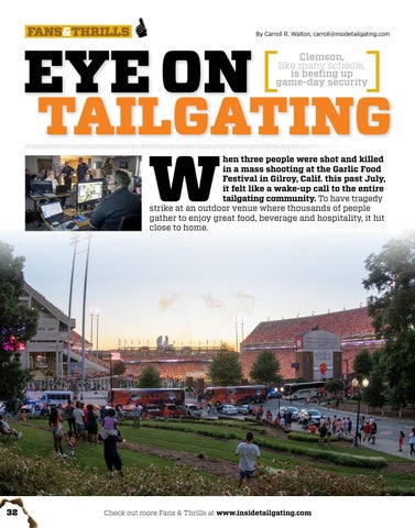 Page 32 of Eye on Tailgating: Clemson amps up Game Day Security