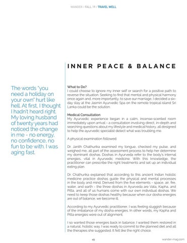 Page 49 of Ayurvedic Solo Spa Holiday